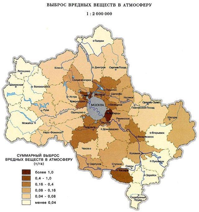 земельная карта московской области