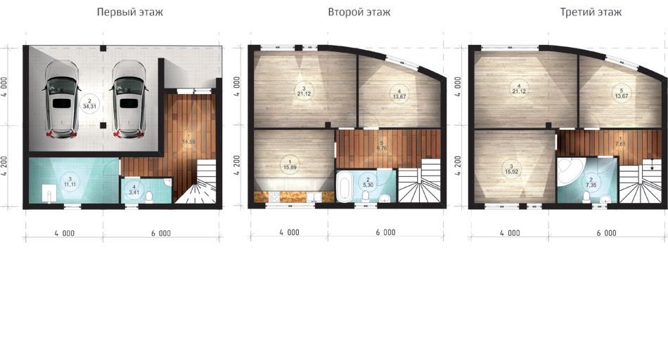 Projekti v hiši z garažo
